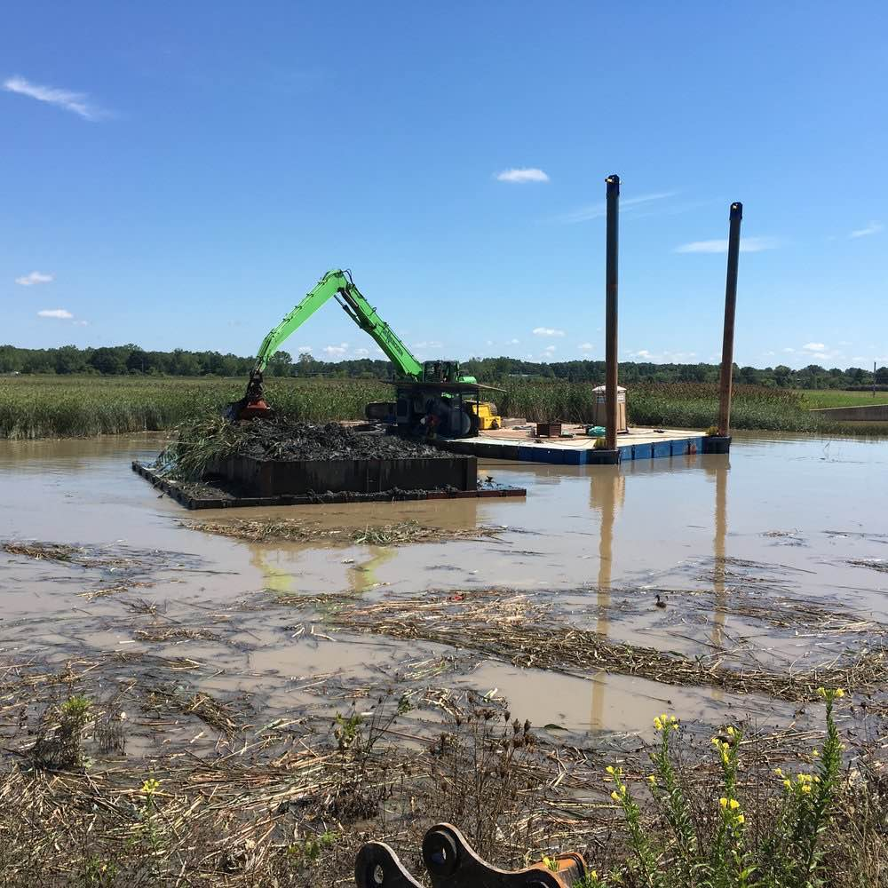 Stormwater Detention Pond work