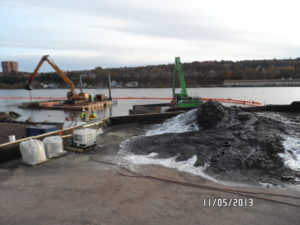 dredging work being completed