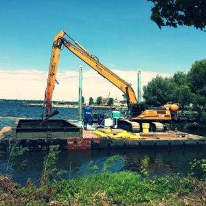 Environmental dredging project site