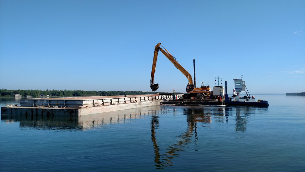 St. Mary's river dredging equipment