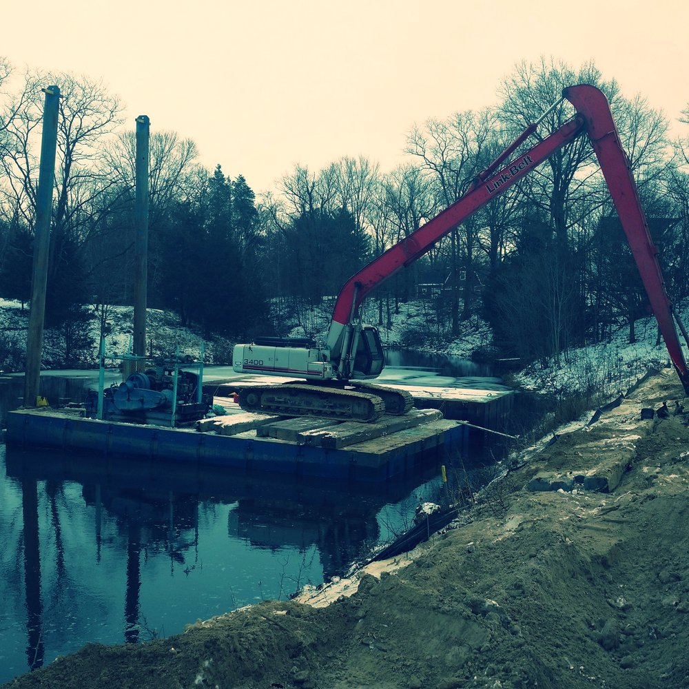 Residential dredging project site