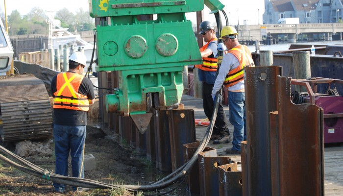 Sheet Pile Installation - White Lake Dock & Dredge, Inc